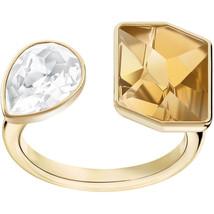 Authentic Swarovski Prisma Gold Open Ring - size 52/US 6 - $139.32