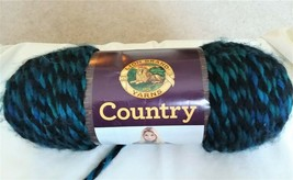 1 Skein Yarn Lion Brand Country Kennebunk Teal 278 - $10.19