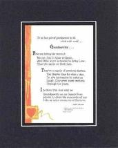 Personalized Touching and Heartfelt Poem for GrandParents - Grandparents... - $22.72