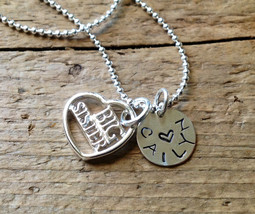 Big Sister Little Sister Necklace Jewelry New Baby Charm - $18.00