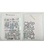 POPPY Purrfect Holidays Christmas Cat Clear Stamp Set and Matching Dies - $24.99