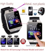 Bluetooth Wireless Smart Watch with Sim For Samsung S5 S6 Edge S7 S8 + S... - $29.95
