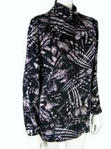 CITIKNITS Tunic Oversized XS Stretch Travel Knit Black White Print Slouc... - $13.91