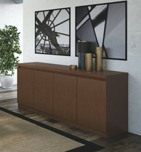 Brown Sideboard Buffet 5 Feet Large Storage Cabinet Console Stand Table ... - $325.18