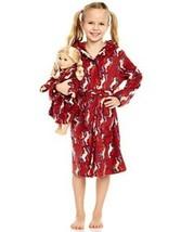 Leveret Matching Doll & Girl Fleece Robe Unicorn Size 10 Fits American  - $33.66