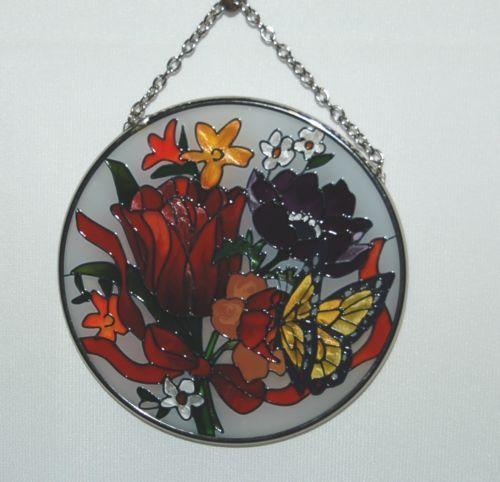 joan baker Designs MC257 Jewel Bouquet Multi Colored Flowers Yellow Butterfly