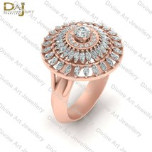 Double Halo Cocktail Ring For Women Diamond Cocktail Engagement Ring Wom... - $142.59+