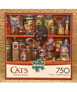 Buffalo Cats puzzle Spice Rack Kittens 750 piece Sergio Studio - $4.00