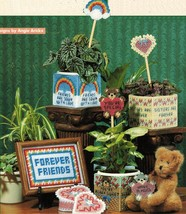 Plastic Canvas Gifts For Family Friends Sampler Plant Cover Poke Magnet ... - $11.99