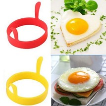 Nonstick Fried Silica Gel Handles Mold Ring Frying Pancake Egg Rings - $2.51 CAD