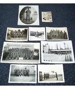 9 ORIGINAL WW2 ERA GERMAN PHOTOS: R.A.D. MEN INCLUDING GROUP POSES - $45.00