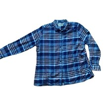 Women's Woolrich Pemberton Blue Cotton Flannel Shirt Size XXL - $17.82