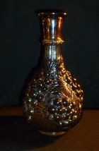 """Vintage Imperial Grape Carnival Glass Decanter Iridescent Amethyst 9 3/4"""" - $34.64"""