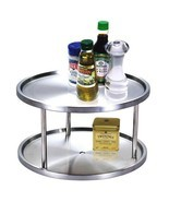 Modern 2-Tier Stainless Steel Lazy Susan Kitche... - $37.61