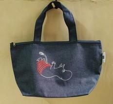 New MOOMIN x Urban Research UR Denim Blue Tote Lunch Hand Zipper Bag - $13.99