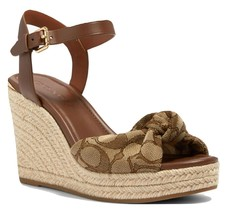Coach Katey Wedge In Signature Jacquard Sandals Size 5.5 MSRP: $228.00 - $168.29