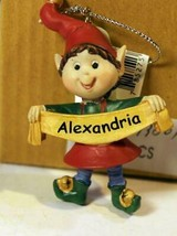 Christmas Ornaments WHOLESALE- Russ BERRIE- #13801 -'ALEXANDRIA'- (6) - New -W74 - $5.83