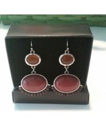 AVON BEADED CHIC EARRINGS WESTERN INSPIRED STYLE NIB 2010 faux stone and... - $7.43