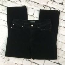 Ralph Lauren Jeans Co Black Corduroy Pants Womens Sz 8  - $19.79