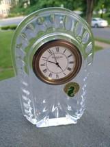 Waterford Made in Ireland Overture Crystal  Clock original sticker NEW B... - $39.99