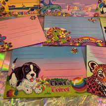 Vintage Lisa Frank 8Piece Envelope Lot Peekaboo Violet Racoons Ice Cream Dogs  image 4