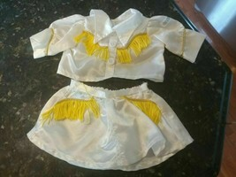Cabbage Patch Kids Vtg 1984 Western Collection Cowgirl Outfit Yellow Fringe Cute - $24.88