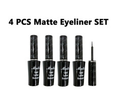 """Italia Deluxe Black Matte Waterproof Liquid Eyeliner """"4 PCS set"""" - $9.88"""