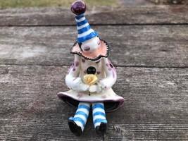 "Schmid Yamada Originals Earthenware Clown Shelf Sitter Figurine 3.5"" Signed - $14.80"