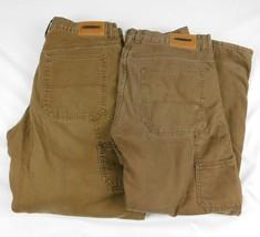 2 CE Schmidt Workwear Mens Brown Carpenter Utility Jeans Pants Lined W 3... - $32.99