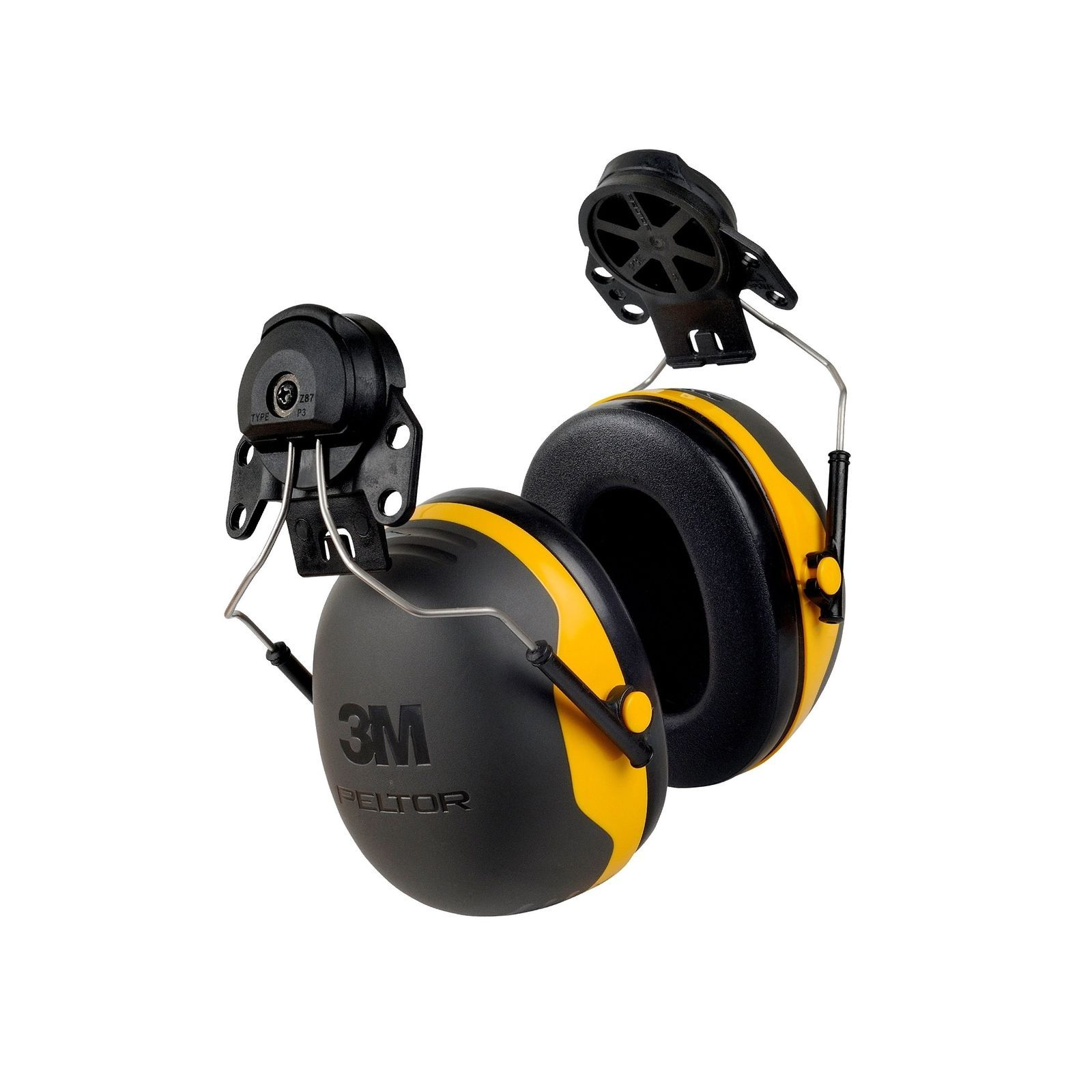 3M Peltor X-Series X2P3E Cap-Mount Earmuffs, NRR 24 dB, One Size Fits Most, B...