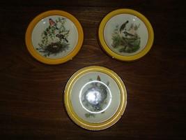 Vintage SMF Schramberg Germany Decorative Plates Birds w Nest Trees Set ... - $84.97