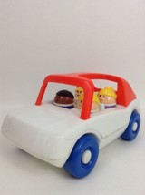 Vintage 1986 Little Tikes Toddle Tots Chunky People Family Car w/ Toy Fi... - $29.65