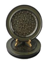 """4 Vintage Franciscan Earthenware Madeira Brown Green Glaze 10.5"""" Dinner ... - $37.36"""