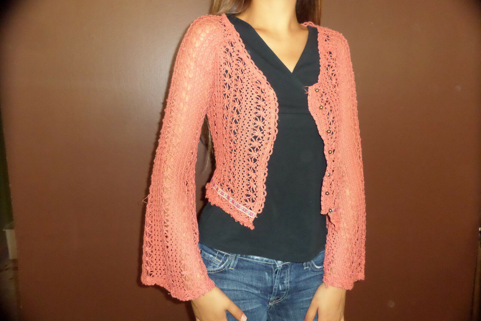 Daytrip The Buckle Cropped Cardigan Sweater sz XS NWT image 2