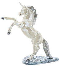 Hagen-Renaker Specialties Large Ceramic Figurine Unicorn Rearing on Base