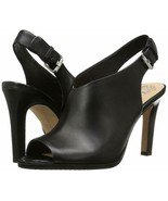 Vince Camuto Nattey Leather Peep-Toe Slingback Shooties, Multiple Sizes ... - $99.95
