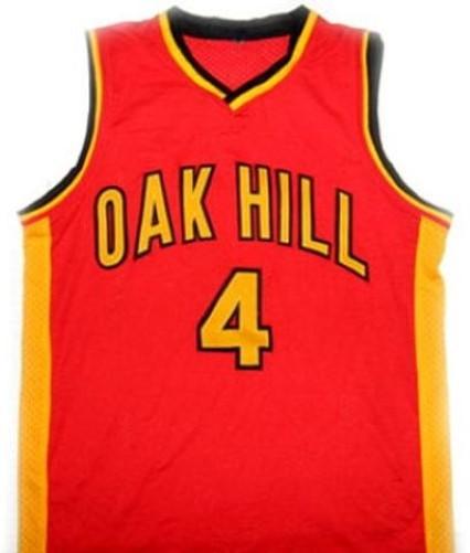 Rajon rondo  4 oak hill high school basketball jersey red 1