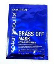 Matrix Total Results BRASS OFF Color Obsessed Hair Mask 30 ml - $7.99