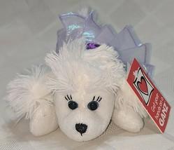 GANZ H12403  White Ballerina Poodle Purple Tutu 7 inch Ages 3 Plus image 1