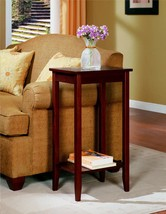 End Table Stand Side Tall Living Room Coffee Rosewood Vintage Style Furn... - $43.21