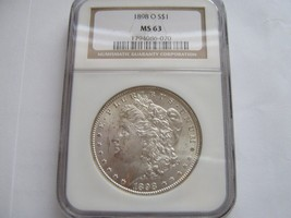 1898-O , Morgan Silver Dollar , NGC , MS 63 - $75.00
