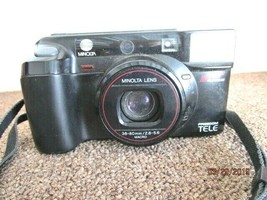 VTG Minolta Freedom Tele35mm Film Camera Point & Shoot 38/80mm Untested - $18.55