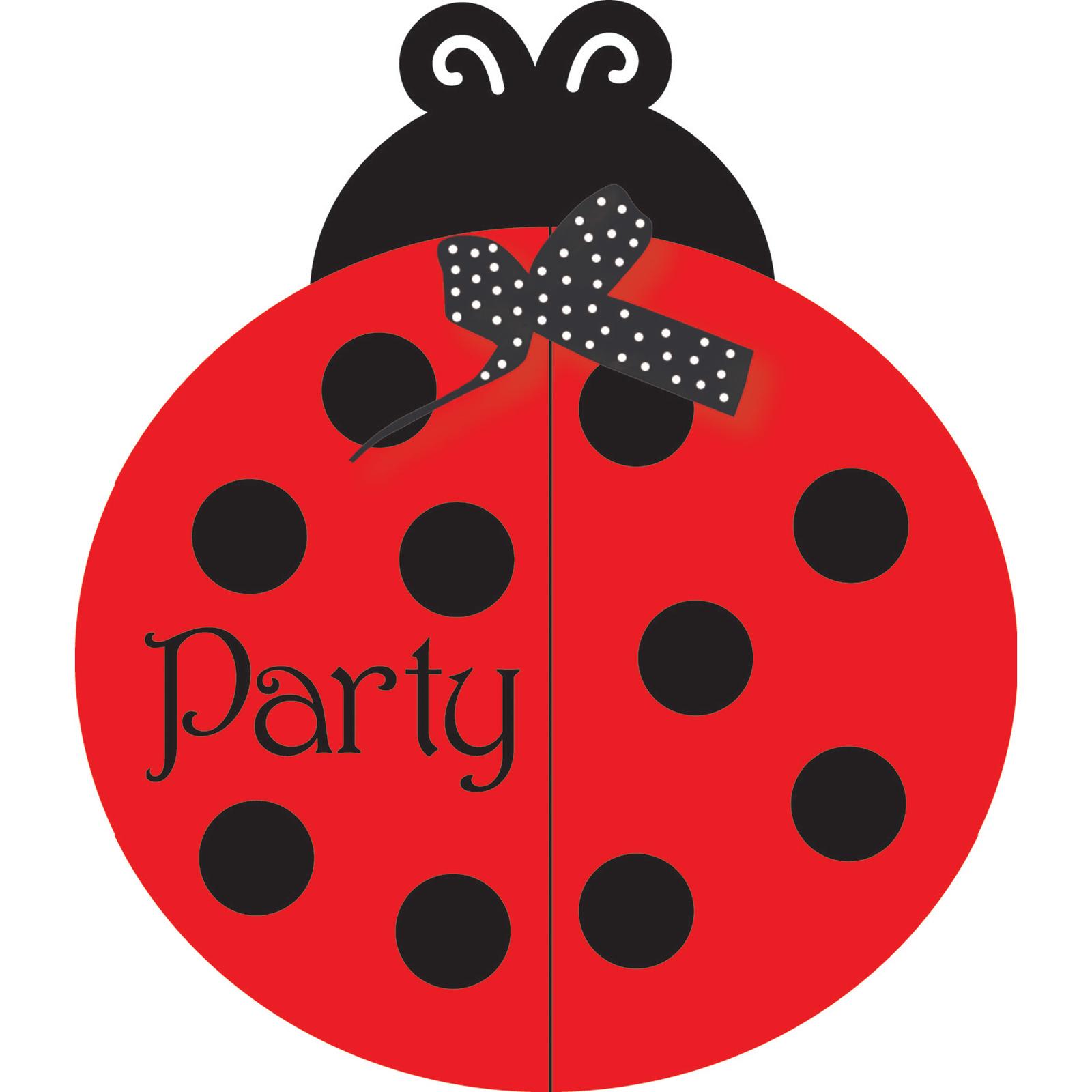 Ladybug Fancy Invitation Bulk Gatefold, Case of 75