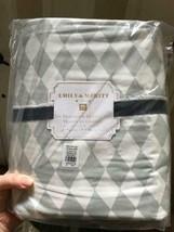Pottery Barn Teen Harlequin Duvet Cover Gray Queen 2 Standard Shams Diam... - $166.00