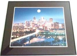 STEVEN LINDER Framed Photograph AUGUST MOON 1997 Limited Edition MINNEAP... - $48.50