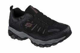 Skechers Men's After Burn M. Fit Slip-On Walking Shoe Black/Charcoal - $65.29