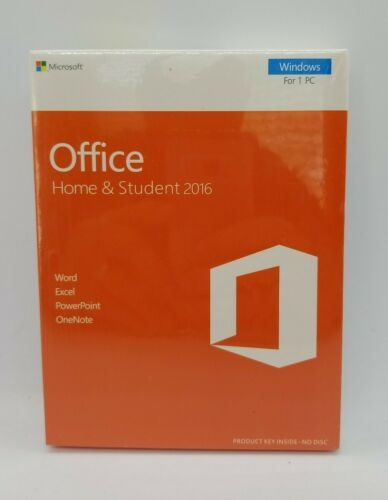 Microsoft Office Home & Student 2016 for Windows Medialess Sealed - $55.95