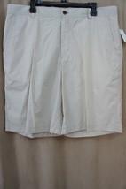 IZOD Mens Golf Shorts Sz 38 Stonedust Beige Cool & Dry Taffeta Moisture ... - $19.71