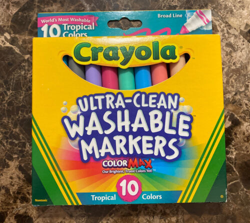Primary image for Crayola Ultra-Clean Color Max Broad Line Washable Markers-Tropical Colors 10/Pkg