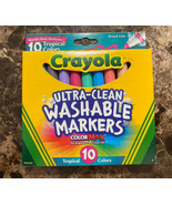 Crayola Ultra-Clean Color Max Broad Line Washable Markers-Tropical Color... - $11.87